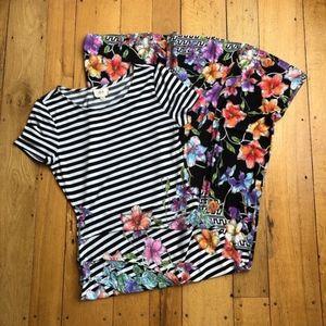 ECI New York Stripes and Florals Maxi Dress